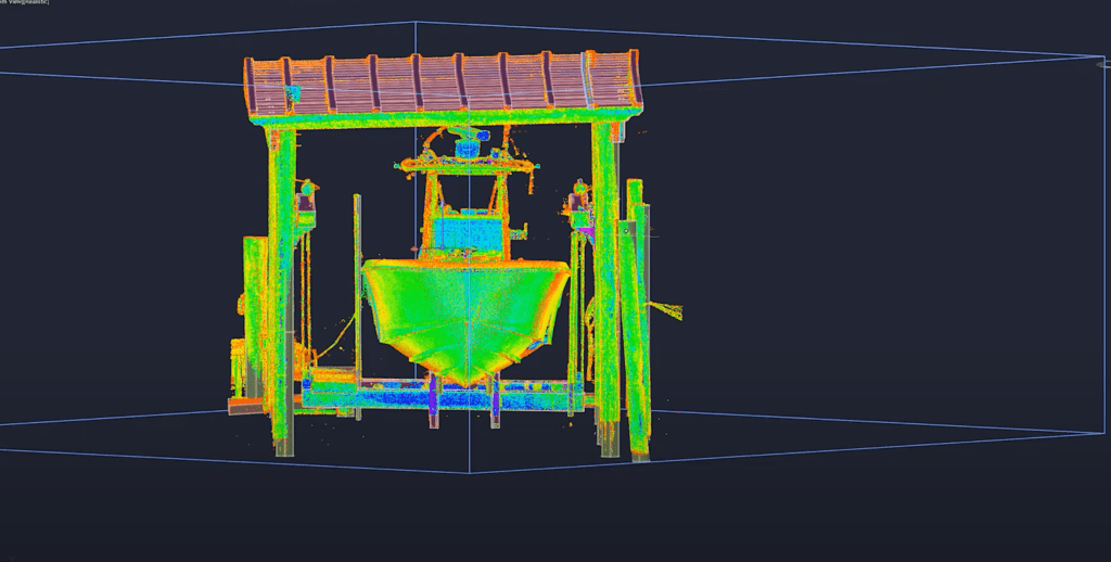 Image of a 3D scan using GCT Surveying & Mapping's state-of-the-art equipment